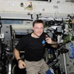 Astronaut Doug Wheelock Operating Ham Radio on the ISS